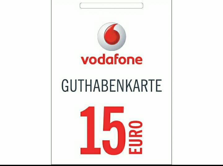 Vodafone 5€ Geschenkt bei 15€ Aufladen
