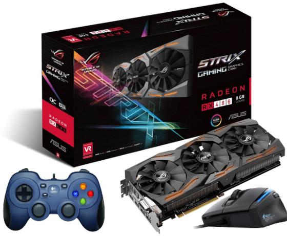 Asus ROG Strix Radeon RX 480 OC (8GB) + Roccat Kone XTD Gaming-Maus + Logitech F310 Gamepad für 255€ [Mediamarkt Abholung]