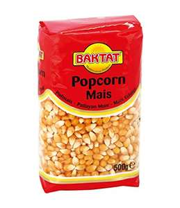 Baktat Popcorn Mais, 3er Pack (3 x 500 g) (Amazon Plus Produkt)