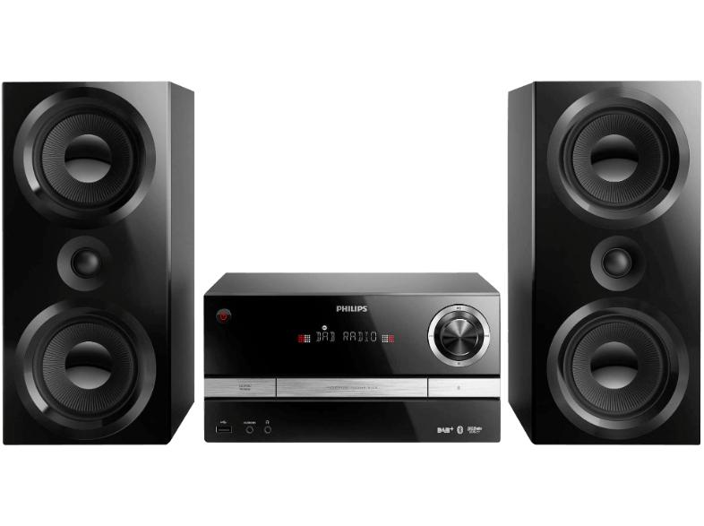 PHILIPS BTB 3370/12 Kompaktanlage mit DAB+, Bluetooth, CD, MP3-CD, USB, UKW, 150 Watt für 195€ [mediamarkt.at]