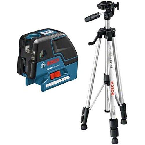 Bosch Punktlaser GCL 25, mit Schutztasche und Baustativ BS 150 für 234,75€ [amazon.fr]