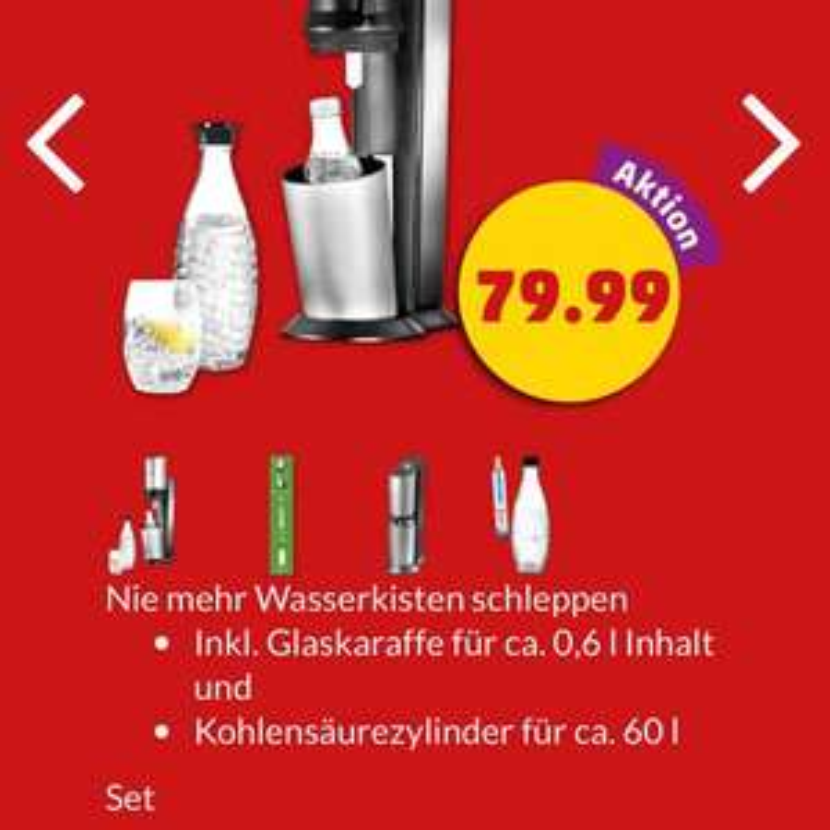 Sodastream Trinkwassersprudler Set Crystal für 79,99€ bei Penny ab 2.3. (Donnerstag)