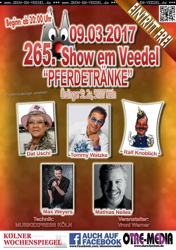 Köln - 265. Show em Veedel - 09.03.2017 - 20 Uhr - Eintritt frei