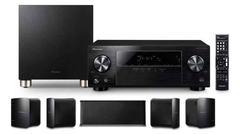 Pioneer HTP-074 5.1 Heimkinosystem (AV-Receiver + Lautsprecher, Subwoofer) für 324,67€ [Amazon.es]