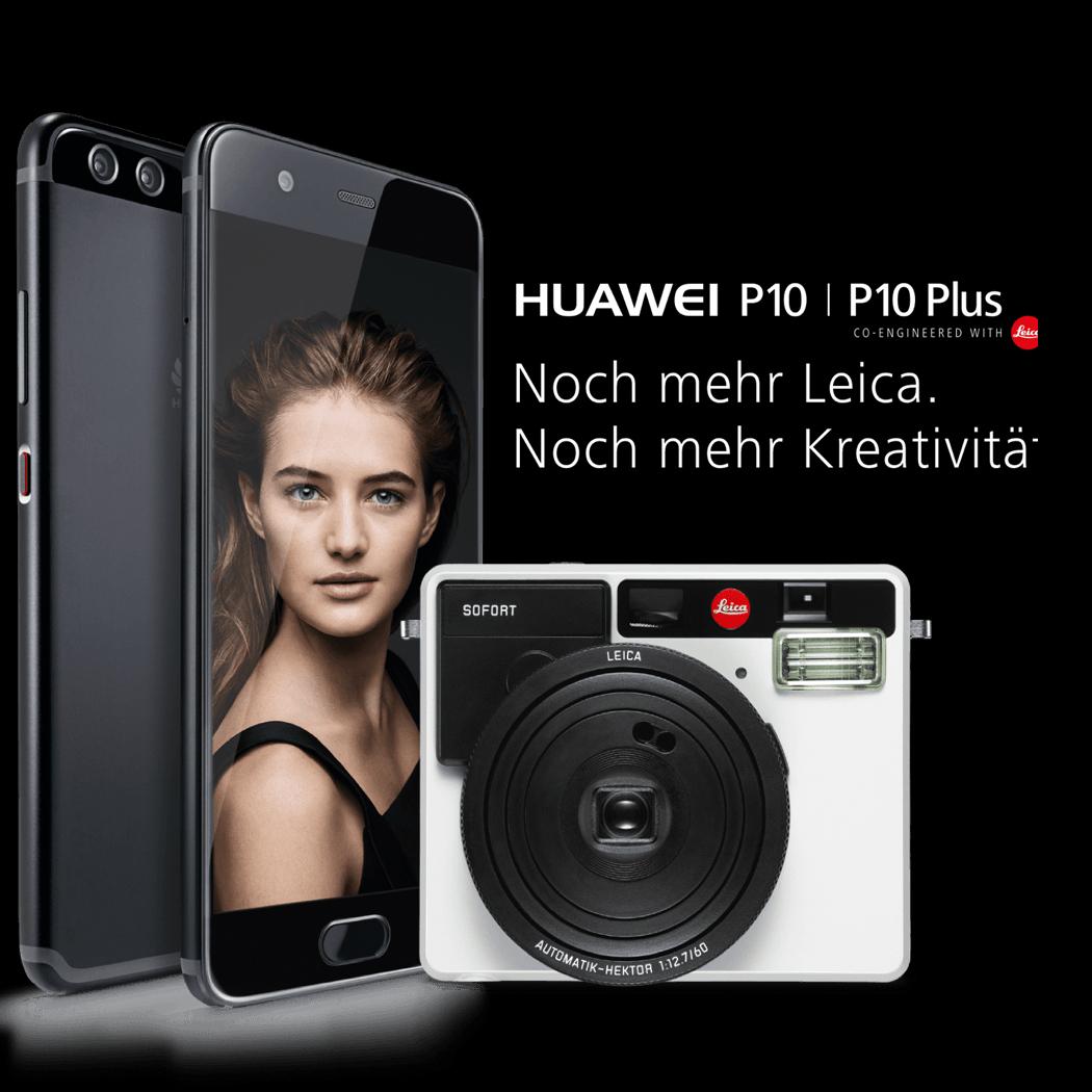 Huawei P10 (Plus) neues Flaggschiffmodell der MWC Barcelona: Sparhandy Vorbesteller mit Vodafone oder Telekom Tarif + Leica Sofort Kamera kostenlos