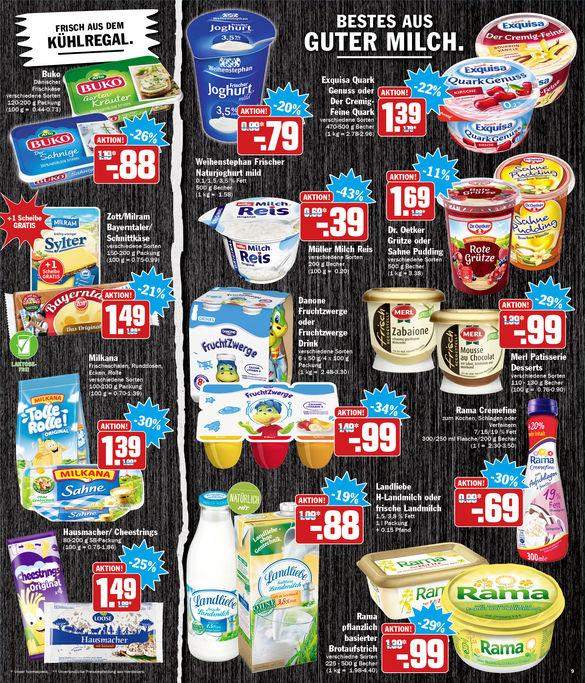HIT (KW 9) Landliebe Frische Landmilch in der Glasflasche (1 Liter) für 88 Cent + Pfand