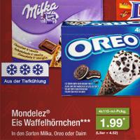 [Aldi Nord & Süd ab 10.03.] Waffelhörnchen Oreo, Milka & Daim je 4x110ml für 1,99€