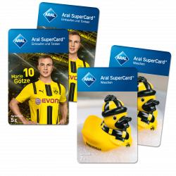 BVB FanShop Aral Supercard für 30€ kaufen und 12€ Waschgutschein kostenlos erhalten