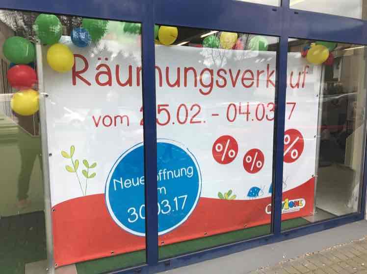 Räumungsverkauf im BabyOne Kaarst - bis zu 40% - vom 25.02 bis 04.03