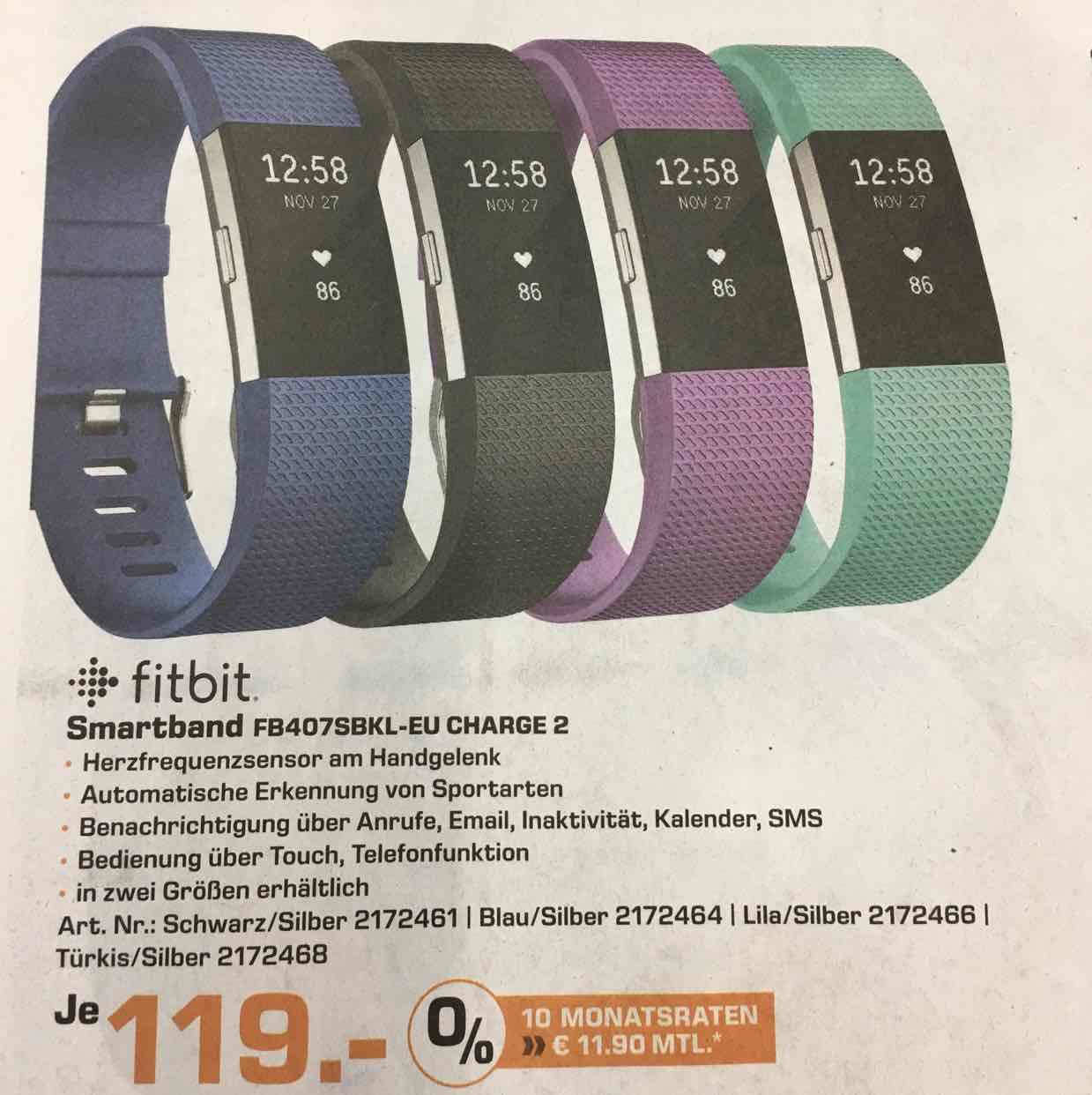 Fitbit Charge 2 für 119€ im Saturn Bremen (Duckwitzstr.)