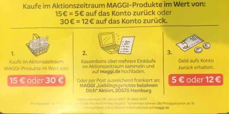 Maggi Fix 0,296€ pro Packung bei Edeka