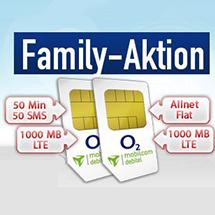 mobilcom-debitel o2 Doppel-SIM Angebot: (50|50|1GB LTE) + (Allnet|1GB LTE) für zusammen eff. 7 € / Monat