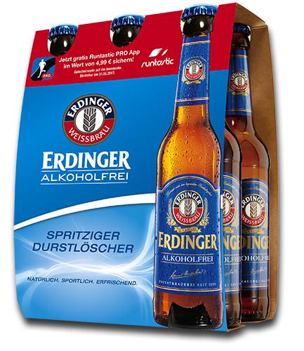 Sixpack Erdinger Alkoholfrei kaufen, Downloadcode für Runtastic PRO erhalten