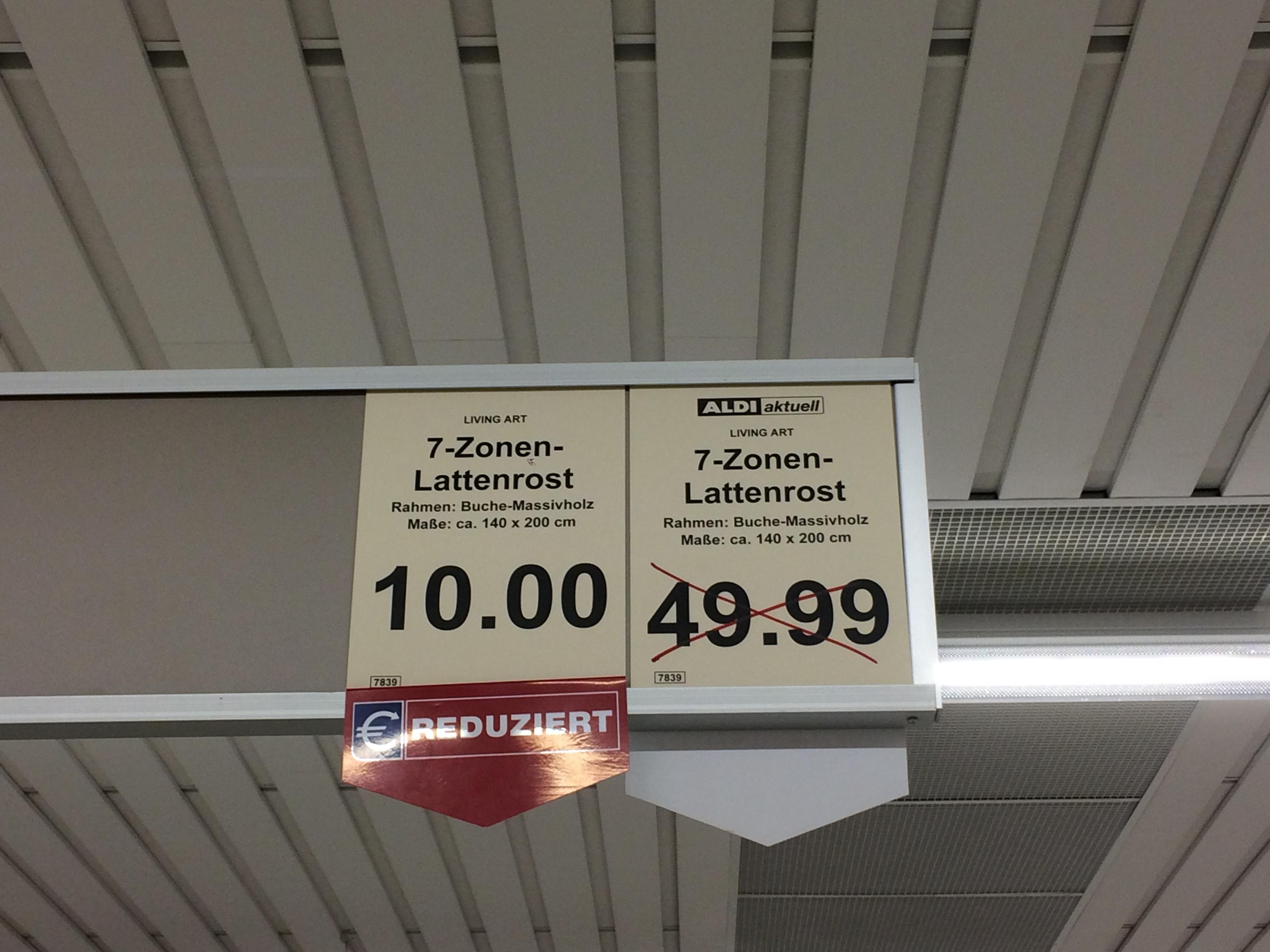 Bremen Vahr Aldi Nord Lattenrost 140cm reduziert von 49,99