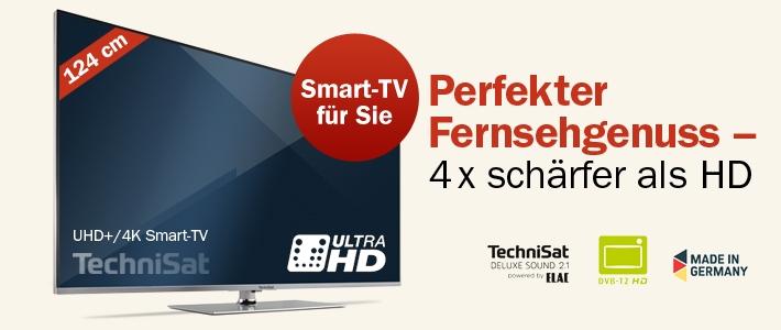 """2 Jahre Tagesspiegel - als Prämie TechniMedia 49"""" UHD+ Smart-TV von TechniSat (lt. idealo 1.999 €)"""