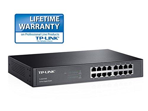 [Amazon.fr Tagesangebot] TP-Link-Produkte, u.a. TP-Link TL-SG1016D Desktop/Rackmount Switch (1000 M, 16-Port, lüfterloses Passivkühlkonzept) für 51,33 € statt 69,80 €