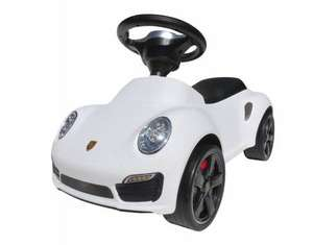 [Coemico / Allyouneed] Rutschauto Porsche 911, Lauflernhilfe Babyauto, Kunststoff, Weiß