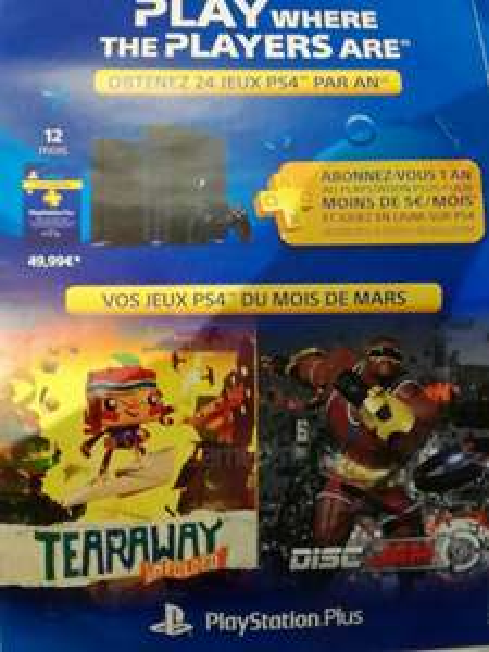 PS+ März - PS4 - Tearaway Unfolded & Disk Jam ab 07.03