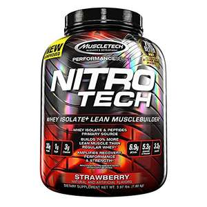Muscletech Nitro-Tech Performance Series - Strawberry, 1er Pack (1 x 1.8 kg) Idealo ab 40€