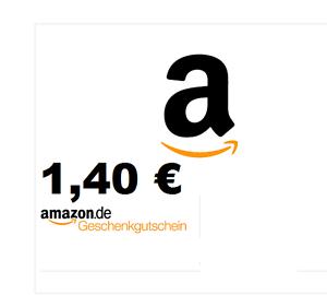 Amazon Gutschein 1,40€  @ Ebay 1€