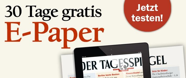 Tagesspiegel als E-Paper-Abo für 30 Tage kostenlos - endet automatisch
