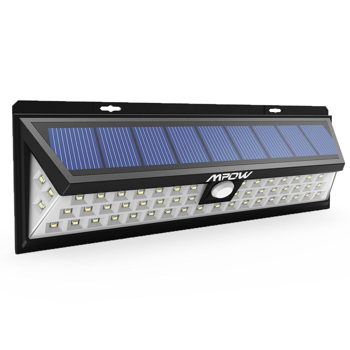 [Amazon UK] Mpow 1 Stück 54 LED Solarleuchte Außen Wasserdichte Solar Betriebene Lampe mit 120° Weitwinkel Bewegungs Sensor Solar für Garten, Terrasse, Wegbeleuchtung