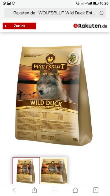 Wolfsblut Hundefutter 15kg z.B Wild Duck zum Normalpreis + 25% in Superpunkten