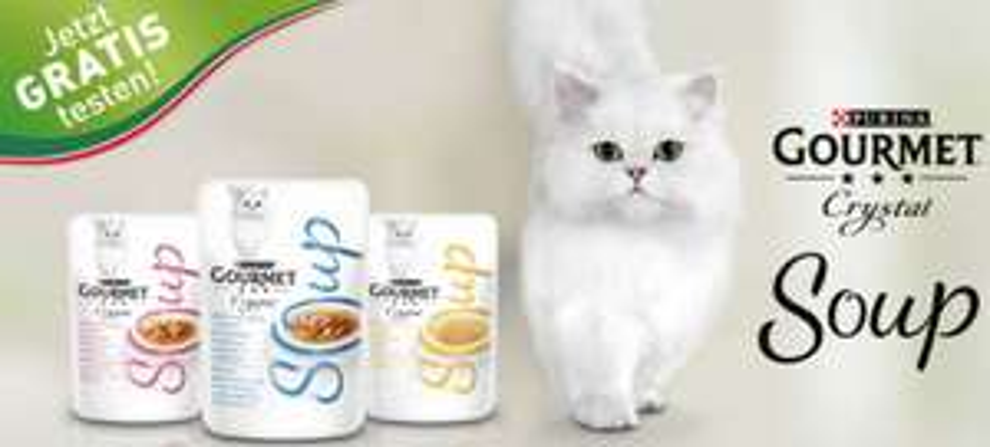Bis zu 4 Gourmet Suppen gratis testen (Katzenfutter)