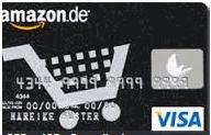 Je 250 Amazon Punkte (gesamt 1000 möglich) dafür, dass man bei Aldi, Kaufland, Lidl und Rewe mit Amazon.de VISA Karte 1 mal bezahlt