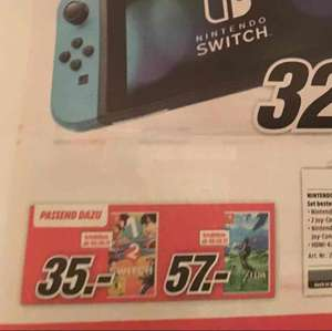 Zelda Breath of the Wild - Nintendo Switch MediaMarkt Bundesweit 57€