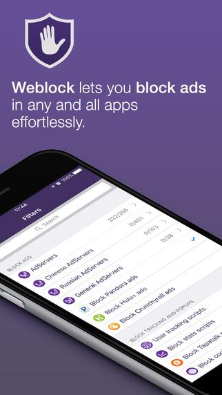 [iOS] Weblock: AdBlocker für Apps und Webseiten - kostenlos statt 1,99€