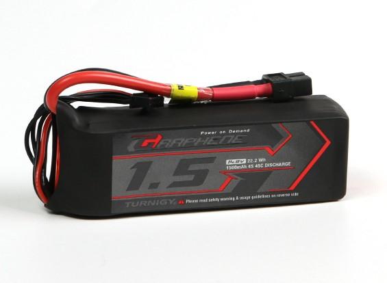 Turnigy Graphene 1500mAh 4S 45C LiPo Pack w/ XT60
