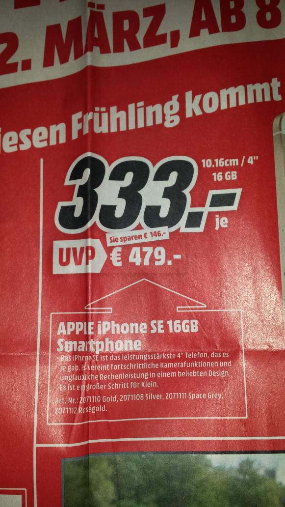 Apple Iphone SE 16GB 333€ lokal Weinheim
