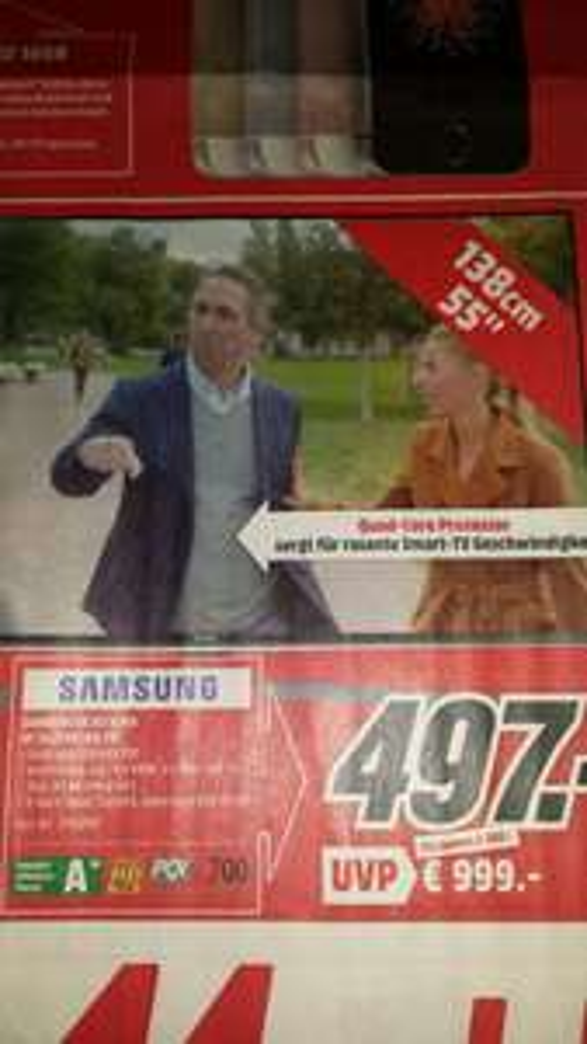 Samsung UE55J6289 497€ lokal Weinheim