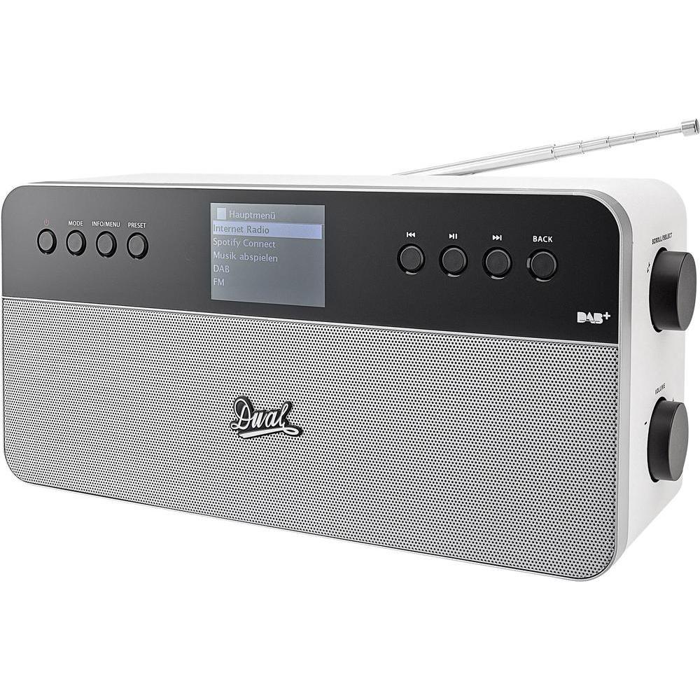[Conrad] Internet Tischradio Dual IR 6S Plus AUX, DAB+, Internetradio, UKW Spotify Weiß, Silber