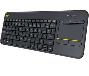 Logitech K400 Plus Touch Wireless Tastatur schwarz (QWERTZ, deutsches Tastaturlayout)