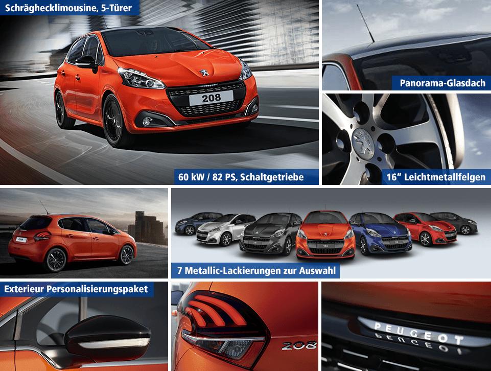 Peugeot 208 Sixt-Leasing 24 Monate mit 1&1 Allnet Flat inklusive Versicherung und Steuer *UPDATE*