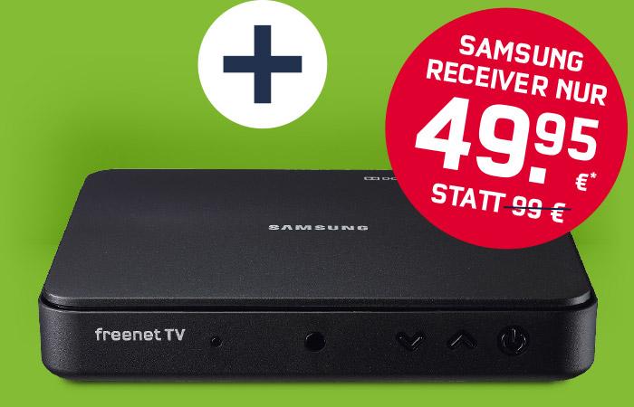 DVB-T2 Receiver Samsung GX-MB 540 TL Media Box Lite TV inklusive 2 Jahre Freenet TV Vertrag