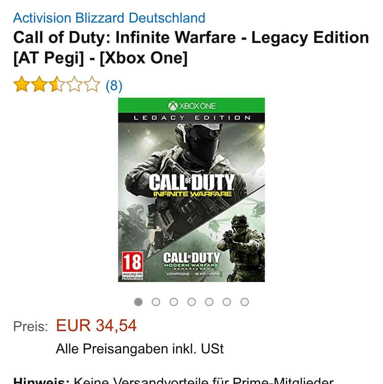 [Amazon] Call of Duty Infinite Warfare Legacy Edition Xbox One