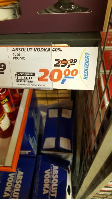 Absolut Vodka 1,5 L Real Osnabrück