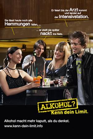 Poster kostenlos zum Thema Alkohol bestellen