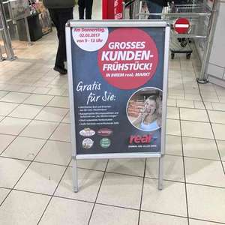 (lokal Augsburg) Real gratis Frühstück 2.3.17 von 9-12uhr