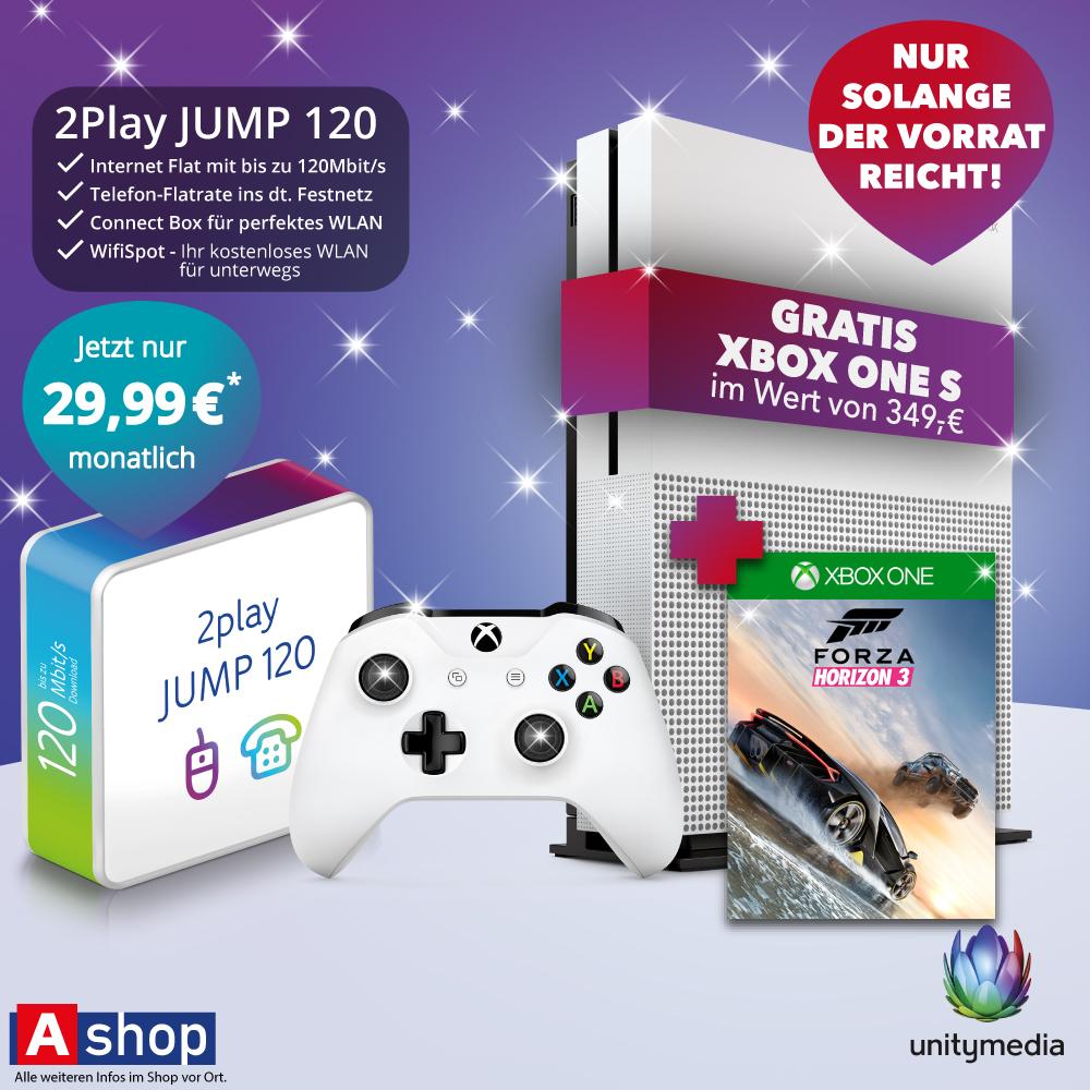 Xbox one S mit Forza Horizon 3 geschenkt bei Unitymedia Vertrag