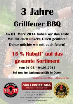 15% auf das gesamte Sortiment bei Grillfeuer BBQ in Oyten