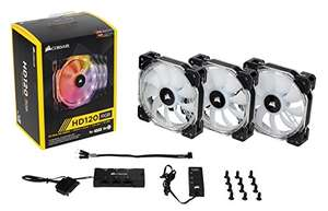 [AMAZON PRIME] Corsair HD120 RGB LED 120mm 3er-Pack mit Controller und Hub (-25% Bestpreis)