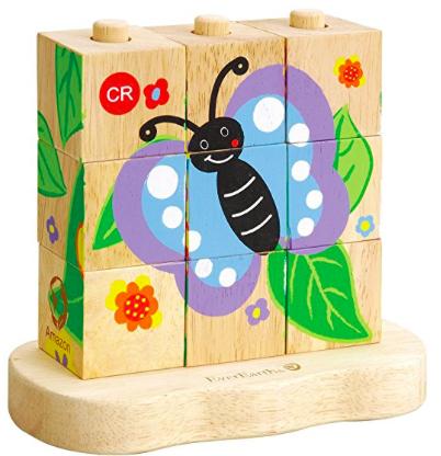 EverEarth Von der Raupe zum Schmetterling, Stapelpuzzle für 6,19€ als [Amazon Plusprodukt]