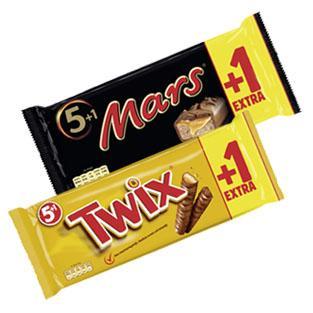 [Offline]  Twix, Snickers, Mars (5 +1)  bei KAUFLAND für 1,11 Euro