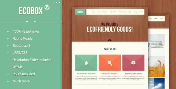 [envato] WordPress Theme Ecobox für lau statt 39$ - und weitere Adds for free