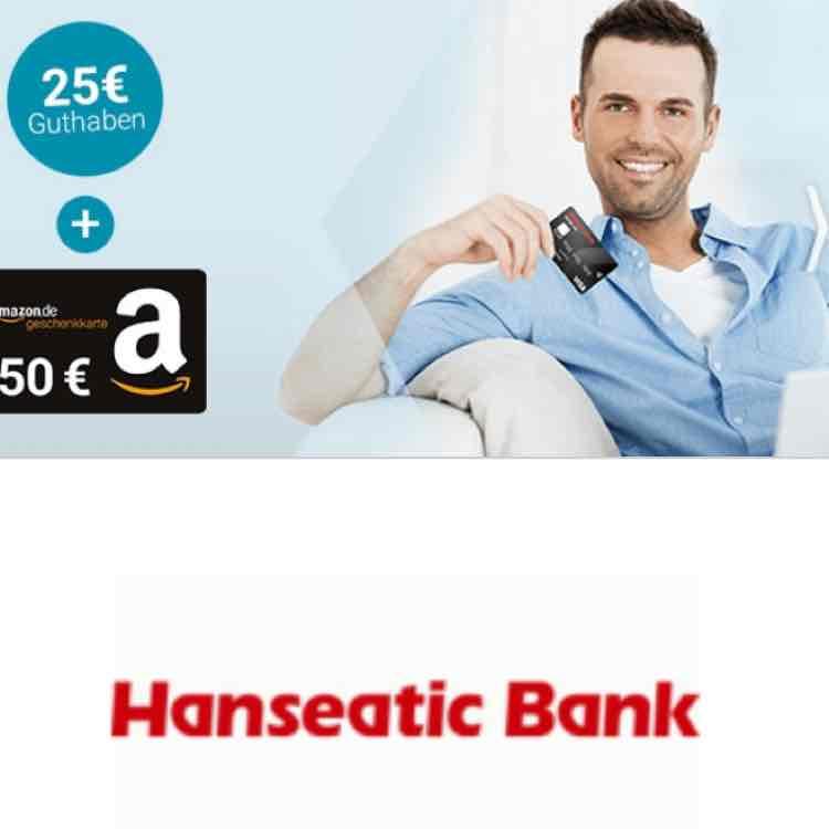 Visa-Kreditkarte mit 50€-Amazon-Gutschein + 25€ Startguthaben