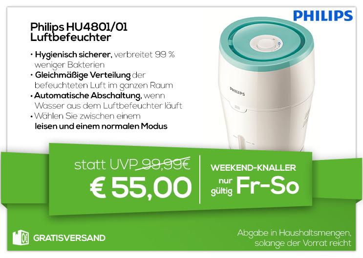 0815 Weekendknaller - Philips HU4801 Luftbefeuchter - 55€